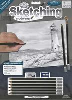 Royal-Brush Sketching Made Easy Light House Point 9x12 Drawing Kit #skbn4