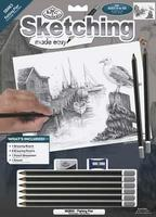 Royal-Brush Sketching Made Easy Fishing Pier 9x12 Drawing Kit #skbn5