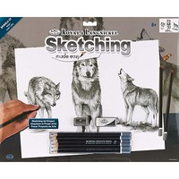 Royal-Brush Sketch Easy Standard Wolves Drawing Kit #skbnl2