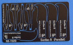 RB Scribe-R Parallel Panel Scribing Tool w/4 Blades- .33, .5, .75, 1mm (use w/hobby knife #1 handle)