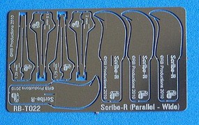 RB Scibe-R Parallel Wide Panel Scribing Tool w/4 Blades- 1.25, 1.5, 1.75, 2mm (use w/hobby knife #1 handle)