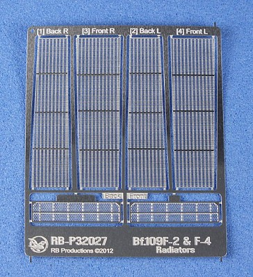 RB 1/32 Bf109F2/F4 Radiators (Photo-Etch) (D)
