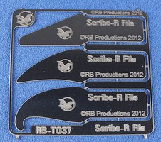 RB Scribe-R File Panel Engraving Tools- 3 different shapes (use w/hobby knife #1 handle)