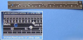 RB 1/48 Scale Ruler, Stainless Steel