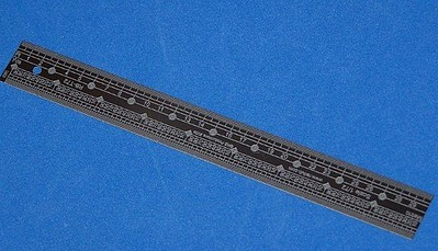 RB 1/72 Scale Ruler, Stainless Steel