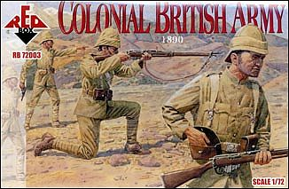 Red-Box Colonial British Army 1890 (12) Plastic Model Military Figure 1/72 Scale #72003