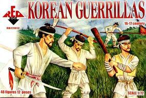 Red-Box Korean Guerillas XVI-XVII Century (48) Plastic Model Military Figure 1/72 Scale #72013