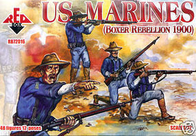 Red-Box US Marines Boxer Rebellion 1900 (48) Plastic Model Military Figure 1/72 Scale #72016