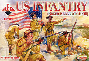 Red-Box US Infantry Boxer Rebellion 1900 (48) Plastic Model Military Figure 1/72 Scale #72017