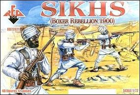 Red-Box Sikhs Fighters Boxer Rebellion 1900 (48) Plastic Model Military Figure 1/72 Scale #72021