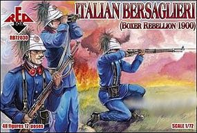 Red-Box Italian Bersaglieri Boxer Rebellion 1900 (48) Plastic Model Military Figure 1/72 #72030