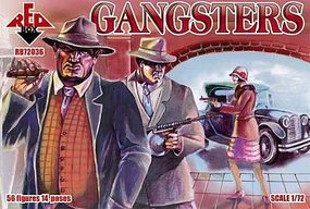 Red-Box Gangsters (56) Plastic Model Figure 1/72 Scale #72036