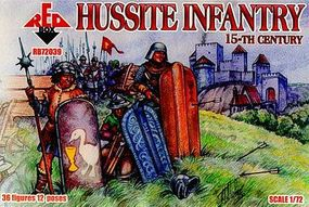 Red-Box Hussite Infantry XV Century (36) Plastic Model Military Figure 1/72 Scale #72039