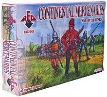Red-Box Continental Mercenaries (40) Plastic Model Military Figure 1/72 Scale #72042