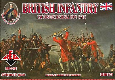 Red Box Figures Jacobite Rebellion 1745- British Infantry (43) -- Plastic Model Military Figure -- 1/72 -- #72049