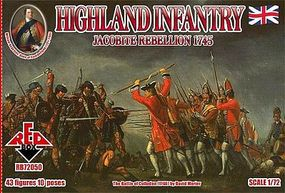 Red-Box Jacobite Rebellion 1745- Highland Infantry (43) Plastic Model Military Figure 1/72 #72050