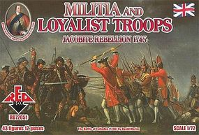 Red-Box Militia & Loyalist Troops (43) Plastic Model Military Figure 1/72 Scale #72051