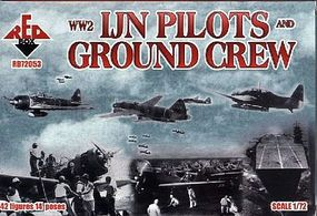 Red-Box WWII Japanese Navy Pilots & Crew Plastic Model Military Figure 1/72 Scale #72053