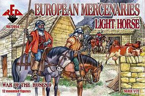 Red-Box European Mercenaries Light Horse Plastic Model Military Figures 1/72 Scale #72054
