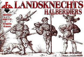 Red-Box Landsknects Halberdiers XVI Century Plastic Model Military Figures 1/72 Scale #72059