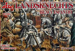Red-Box Landsknechts Heavy Infantry XVI Century Plastic Model Military Figures 1/72 Scale #72063