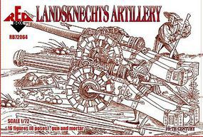 Red-Box Landsknechts Artillery XVI Century Plastic Model Military Figures 1/72 Scale #72064