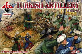 Red-Box Turkish Artillery XVI Century Plastic Model Military Figures 1/72 Scale #72066