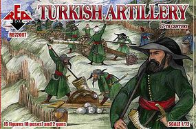 Red-Box Turkish Artillery XVII Century Plastic Model Military Figures 1/72 Scale #72067
