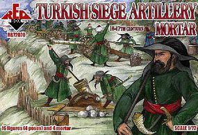 Red-Box Turkish Siege Artillery Mortar XVI-XVII Century Plastic Model Military Figures 1/72 #72070