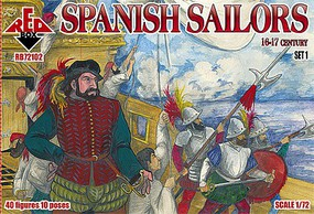 Red-Box 1/72 Spanish Sailors XVI-XVII Century (40)