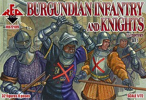 Red-Box 1/72 Burgundian Infantry & Knights XV Century Set #1 (32)