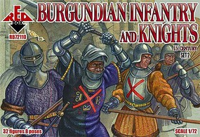 Red-Box 1/72 Burgundian Infantry & Knights XV Century Set #2