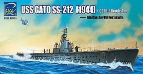 Rich USS GATO SS-212 Submarine Plastic Model Military Ship Kit 1/200 Scale #20001