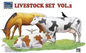Rich Livestock Set #2 Plastic Model Animal Figure 1/35 Scale #35015