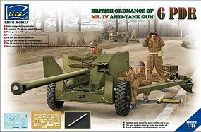 Rich British Ordinance QF 6pdr Mk.IV Plastic Model Military Vehicle Kit 1/35 Scale #35018