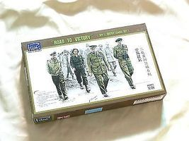 Rich Road to Victory WWII British Plastic Model Military Figure Kit 1/35 Scale #35023