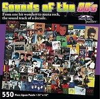 Sounds of the 80s Album Covers Collage Puzzle (550pc)