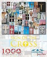 Rainy-Day Sign of the Cross Crucifixes Collage Puzzle (1000pc)