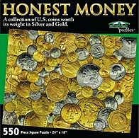 Rainy Day Puzzles Honest Money Coins Collage Puzzle (550pc)