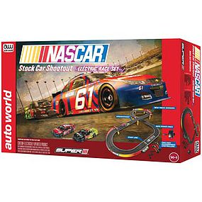 Round2 NASCAR Stock Car Shoot 10 HO Scale Slot Car Set #srs314