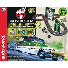 Round2 Ghostbuster Haunted Highway 14 HO Scale Slot Car Set #srs317