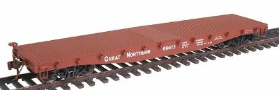 Red Caboose 42'10'' Fishbelly Side Sill Flatcar Great Northern -- HO Scale Model Railroad -- #32306
