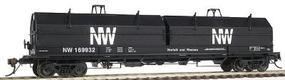 Red-Caboose Norfolk & Western Evans 100-Ton Coil Car w/Angled Hoods HO Scale Model Train Car #32509