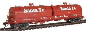 Red-Caboose Evans 100-Ton Coil Car w/Round Hoods Santa Fe HO Scale Model Railroad #32538