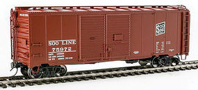 Red-Caboose Soo Line 1937 AAR Double-Door Boxcar HO Scale Model Train Freight Car #38506