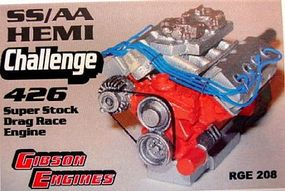 Ross-Gibson Hemi 426 SS/AA Challenge Super Stock Drag Race Engine Plastic Model Engine Kit 1/25 #208