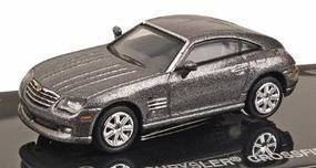 Ricko 2005 Chrysler Crossfire Coupe Graphite HO Scale Model Railroad Vehicle #38365