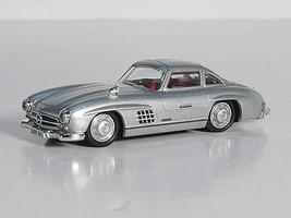 Ricko Mercedes Benz 300SL Gullwing Coupe Silver HO Scale Model Railroad Vehicle #38394