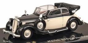 Ricko 1939 Horch Audi 930V Cabriolet Top Down Black & Ivory HO Scale Model Railroad Vehicle #38652