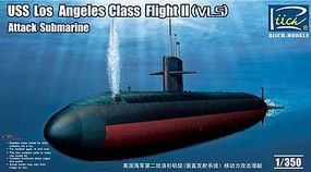 Riich USS Los Angeles Class Flight II VLS Attack Sub Plastic Model Military Ship Kit 1/350 #28006